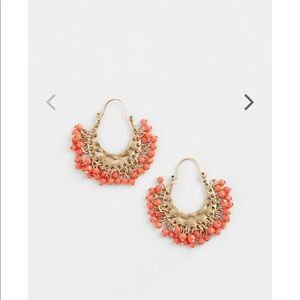 J.jill winter sunset beaded hoops